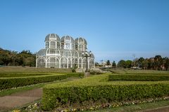 Greenhouse of Curitiba Botanical Garden - Curitiba, Parana, Brazil Royalty Free Stock Photography