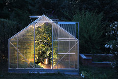 Greenhouse in the evening Royalty Free Stock Images