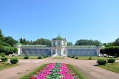 The greenhouse on the farm Kuskovo. Royalty Free Stock Photo