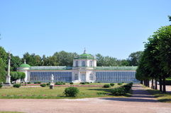 The greenhouse on the farm Kuskovo. Royalty Free Stock Photography