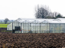 Greenhouse on a field Royalty Free Stock Photography