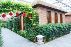 Greenhouse garden stock images