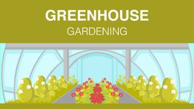 Greenhouse Gardening Web Banner Vector Template vector illustration