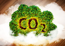 Greenhouse gas concept. Stock Image