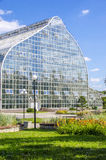 Greenhouse glass. In the Park Royalty Free Stock Photo