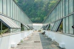 Greenhouse glass. At Queen Sirikit Botanicgarden, Thailand Stock Photos