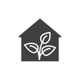 Greenhouse icon vector, filled flat sign, solid pictogram isolated on white. Symbol, logo illustration. Stock Photo