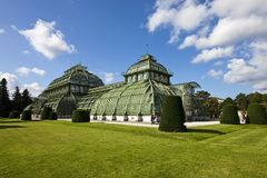 Greenhouse at the imperial garden of Schoenbrunn Royalty Free Stock Photo