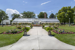 Greenhouse at Liberty Park in Salt Lake City Utah Royalty Free Stock Photos