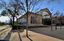 Greenhouse. A greenhouse located in the Parc de la Ciutadella built for the 1888 Barcelona Universal Exposition Royalty Free Stock Photos