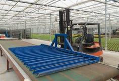 Greenhouse machinery stock photo