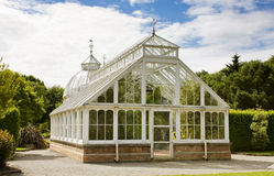 Greenhouse at Malahide Castle Dublin - rear view Royalty Free Stock Photos