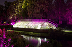 Greenhouse by night - Nantes, France Royalty Free Stock Photos