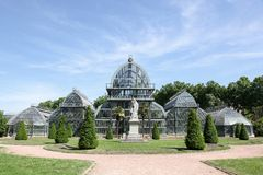 Greenhouse in parc de la tete d'or in Lyon Stock Image