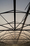 Greenhouse structure of steel and plastic film Stock Photography