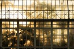 Greenhouse. National Botanic Gardens. Dublin. Ireland. Greenhouse at sunset. National Botanic Gardens. Dublin. Ireland stock photo