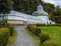 Greenhouse in Villa Negrotto Cambiaso, Arenzano, Genoa, Italy / Arenzano City hall/ Arenzano, Genoa, Italy, stock photo