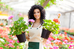 Greenhouse worker Royalty Free Stock Photography