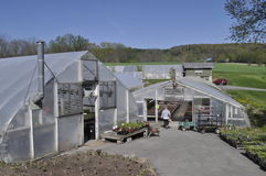 Greenhouses Stock Photo