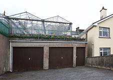 Greenhouses on the accommodation Royalty Free Stock Images