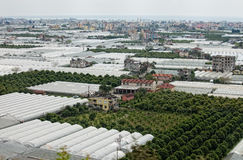Greenhouses by Demre Turkey stock images