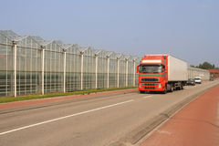 Greenhouses and Truck Royalty Free Stock Photos