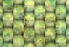 Greeni stain with cubes Royalty Free Stock Images