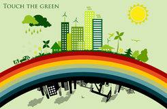 Greening cities. concept of ecology Stock Photo