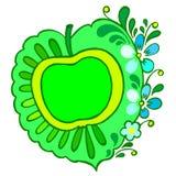 Greening. Hand drawn, , illustration in Ukrainian folk style royalty free illustration