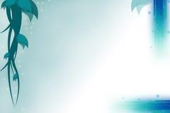 Greenis blue wine left side, abstrack background Stock Image