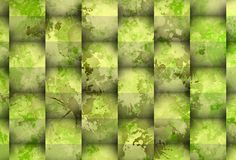Greenish stain with cubes Royalty Free Stock Photography