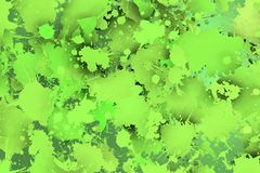 Greenish stains with shadows. Stock Images