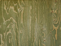 Greenish wood panel with streaks created by knots and veins Royalty Free Stock Photo