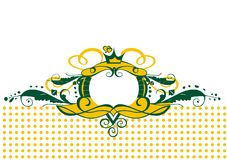 Greenish-yellow border frame. EPS vector ornament (can be used for printing and web Stock Image