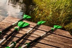 Greenl oars Royalty Free Stock Photo