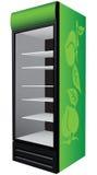 Greenl refrigerator showcase Royalty Free Stock Photo