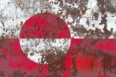 Greenladn grunge flag, Denmark dependent territory flag.  Royalty Free Stock Photos