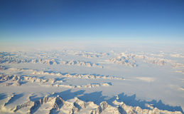 Greenland. Aerial view on Greenland landscapes Stock Image