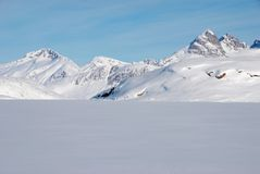 Greenland. Landscape of Greenland with mountains and glacier stock photography