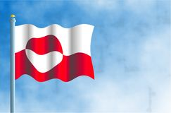 Greenland. National flag of Greenland Royalty Free Stock Photo