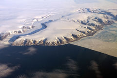 Greenland from the air Royalty Free Stock Photography