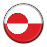 Greenland button flag round sh Royalty Free Stock Photography
