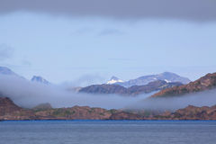 Greenland coast. With the clouds Royalty Free Stock Photos