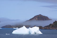Greenland coast. North greenland-coast with iceberg Stock Photos