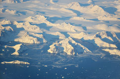Greenland coast. Aerial view on Greenland coast Stock Photography