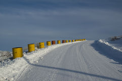 Greenland crash barriers Stock Image