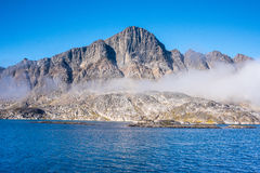Greenland Cruise - landscapes in the Hamburger Sund, north of Maniitsoq, West Greenland Stock Photos
