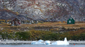 Greenland domy 2 obrazy stock