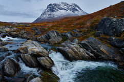 Greenland Fall. Mountain in Fall colors in Greenland Stock Images