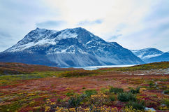 Greenland Fall. Mountain in Fall colors in Greenland Royalty Free Stock Photos
